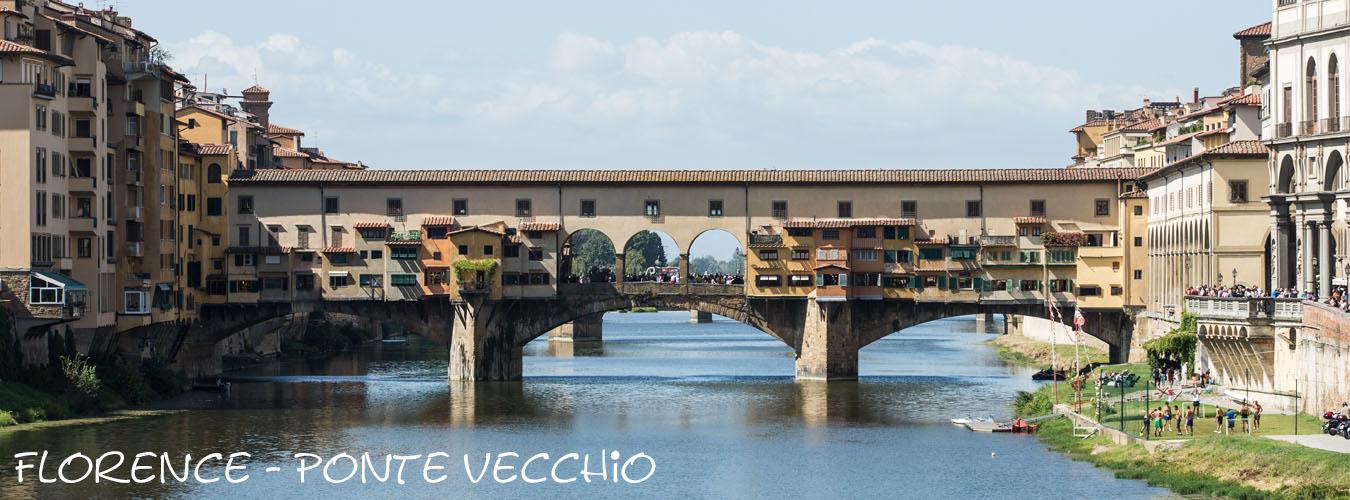 Uitzicht op de Ponte Vecchio in Florence
